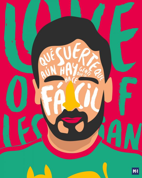 ilustración fácil música ilustrada love of lesbian