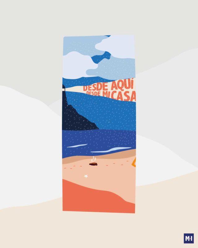 ilustración turnedo playa música ilustrada