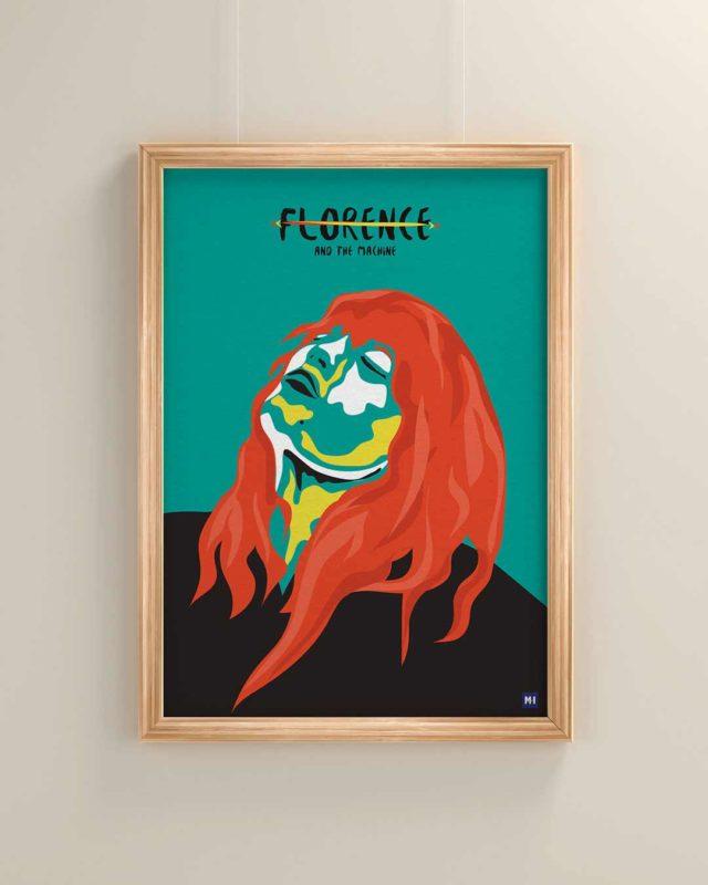 ilustración florence and the machine música ilustrada