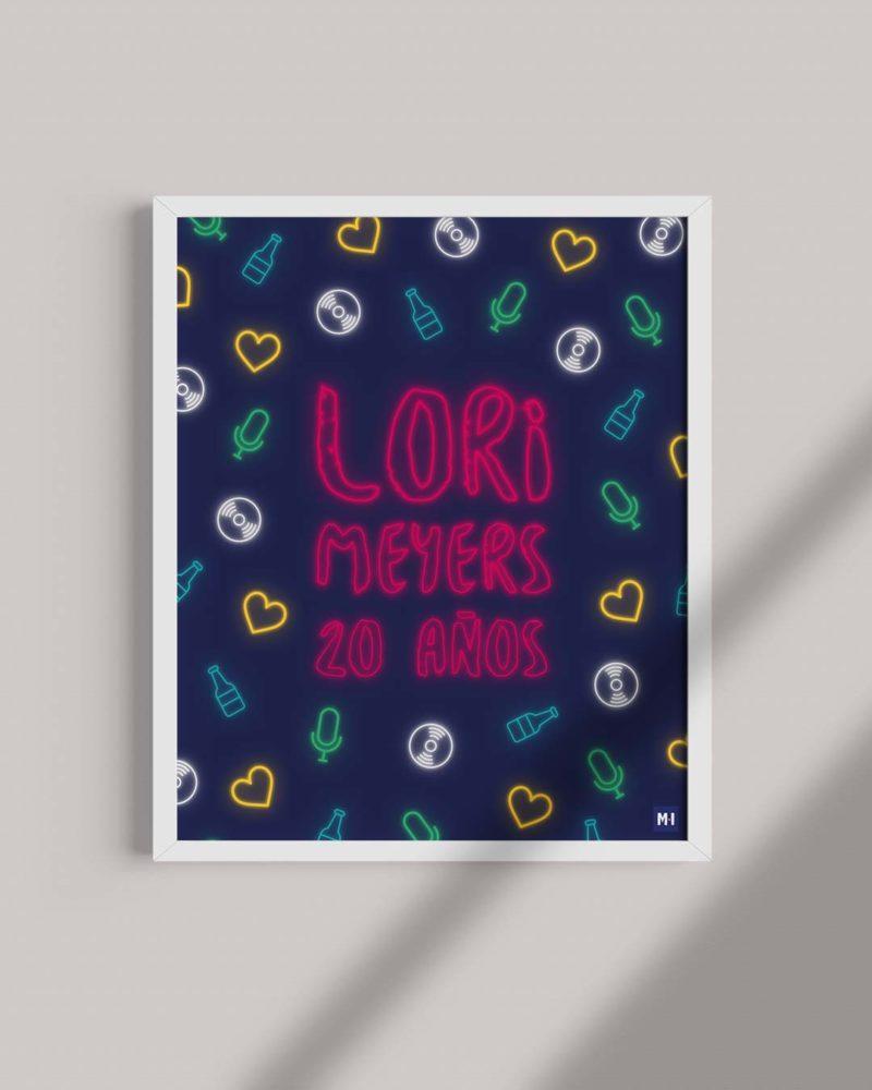 ilustración lori meyers luces de neon música ilustrada